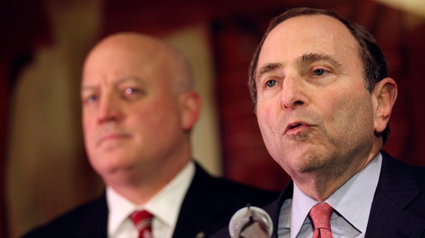 Gary Bettman NHL lockout cancel games