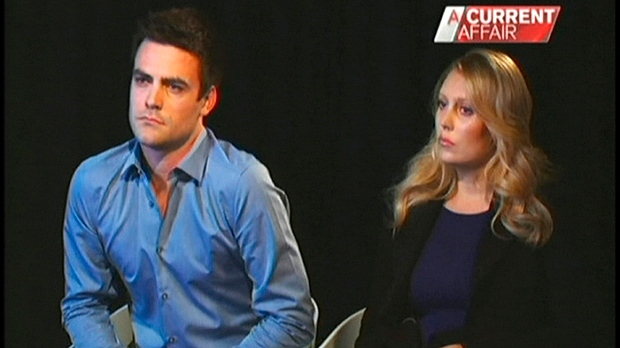 "In this image made from video footage recorded Monday, Dec. 10, 2012, and aired later in the day on ""A Current Affair"" by Australia's Channel Nine, radio DJs Michael Christian, left, and Mel Greig appear during an interview with the TV station. (AP Photo/Channel Nine)"