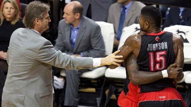 Toronto Raptors Amir Johnson ejected Portland NBA