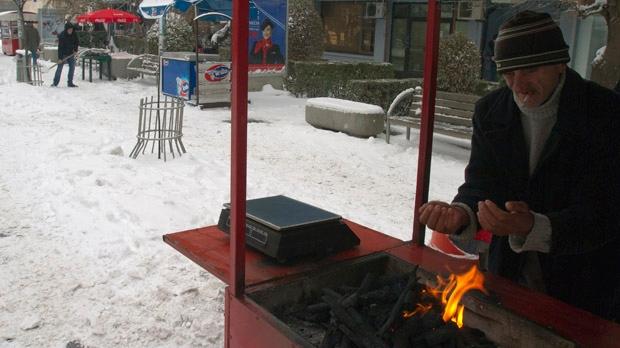 Blizzard snow weather Balkans Montenegro