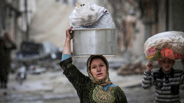 Syria cold wet winter hardship civil war