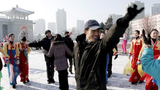 Pyongyang North Korea rocket launch celebration