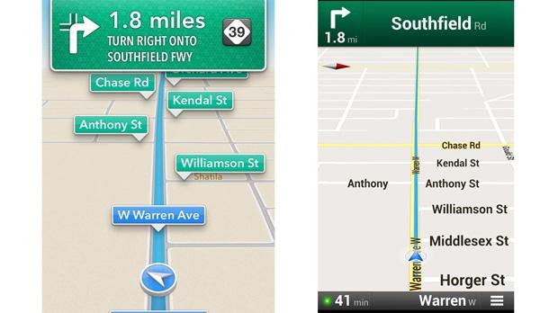 Google Maps returns iPhone iOS Apple Maps