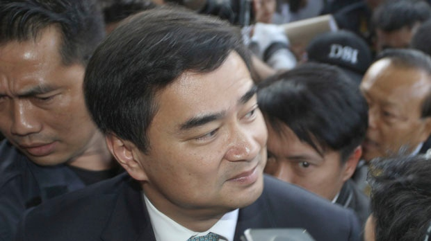 Abhisit Vejjajiva charged murder Thailand