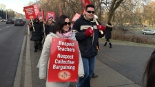 York Region teachers stage one day strike