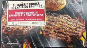 The Canadian Food Inspection Agency and Loblaw Co. are warning the public not to consume the Butcher's Choice Hickory Barbecue Beef Burgers because the products may be contaminated with E. coli bacteria. (Handout)