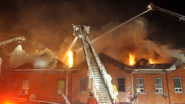 Hamilton row house fire King Street