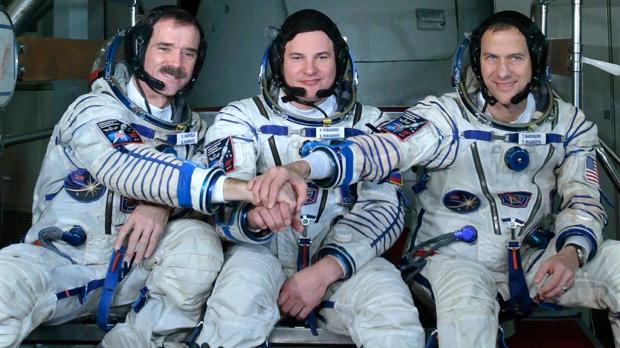 Chris Hadfield space mission ISS Soyuz Kazakhstan