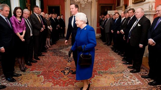 Queen Elizabeth U.K. cabinet meeting Downing St.