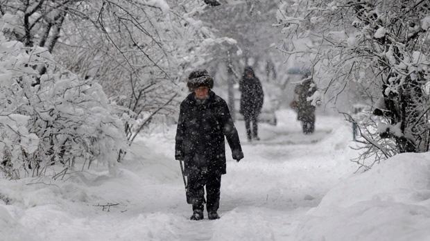 Severe cold spell Kiev Ukraine hypothermia