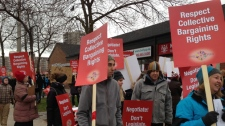 Halton Region elementary teachers strike