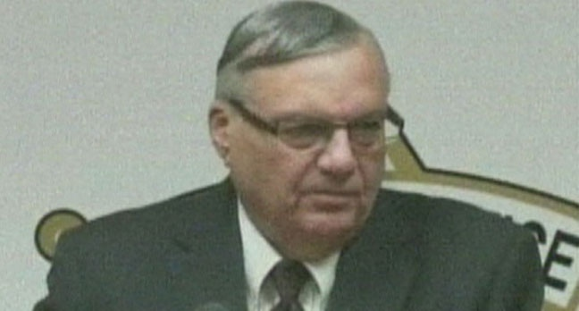 Maricopa County Sheriff Joe Arpaio speaks with reporters about an alleged school shooting planned by an Arizona girl on Thursday Dec. 22, 2012.