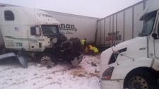 Des Moines Iowa U.S. winter storm crash