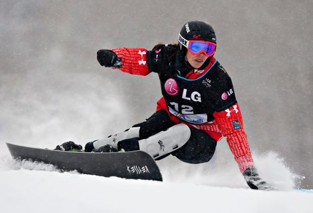 Caroline Calve wins silver giant slalom world cup