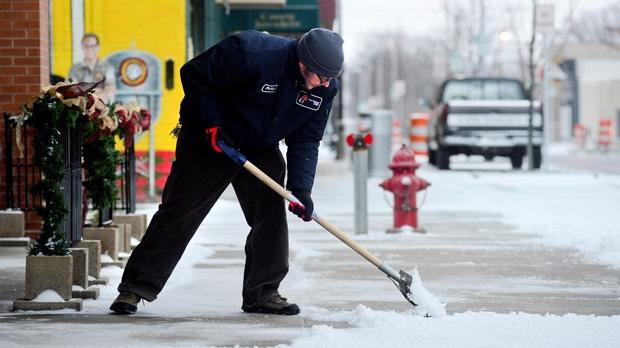 Indiana winter storm snow Colorado low