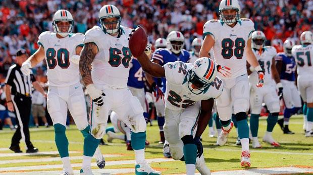 Miami Dolphins running back Reggie Bush