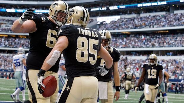 New Orleans Saints tight end David Thomas