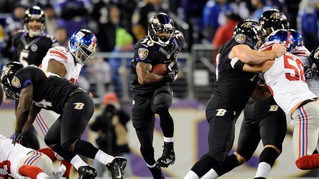 Baltimore Ravens running back Bernard Pierce
