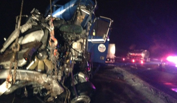 Tractor-trailer, rollover, crash, accident