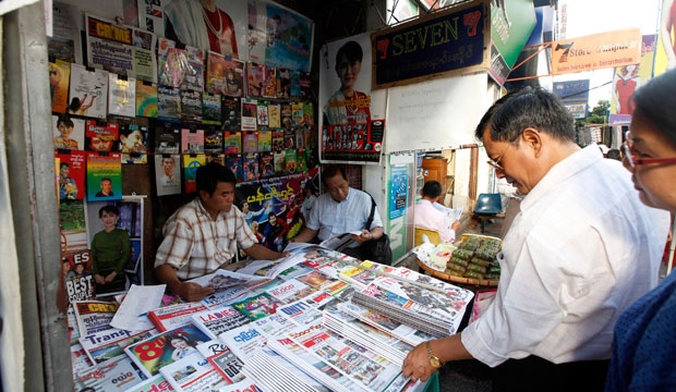 Myanmar, newspapers, press freedom