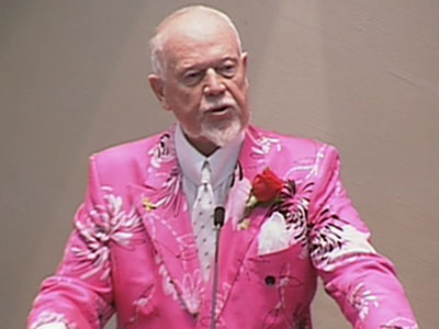 Hockey commentator Don Cherry speaks during a ceremony at city hall in Toronto on Tuesday, Dec. 7, 2010.