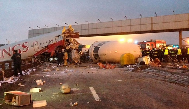 Russia, plane crash, runway, moscow