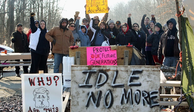 Idle no more, protests, wawa, delays