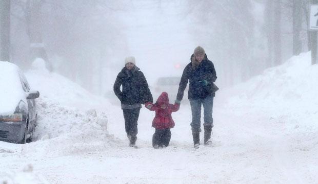 Snow storm, moncton, maritimes, new brunswick