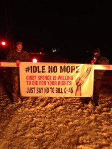Idle No More Protest blocks Via rail trains