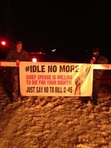 Idle No More Protest blocks Via rail trains