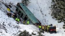 Oregon Vancouver-bound bus crash