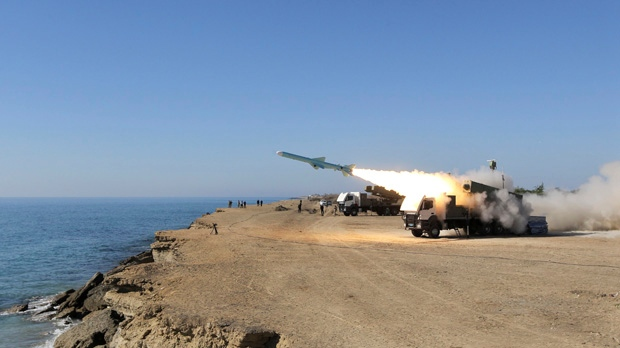 Iran Ghader missile launch Jask Oman Sea