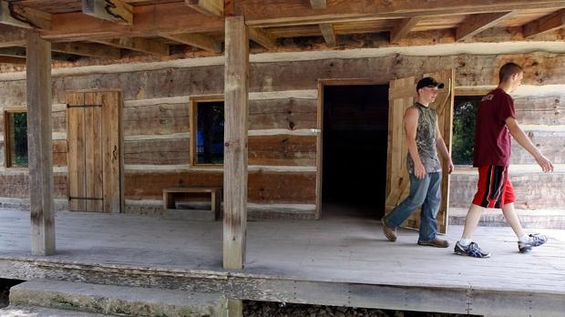 Hatfields McCoys feud eastern Kentucky cabin