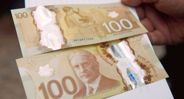 Bank of Canada, Polymer Bills, Melted, heat