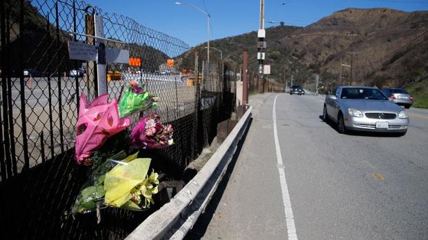 Roadside memorial for a paparazzo