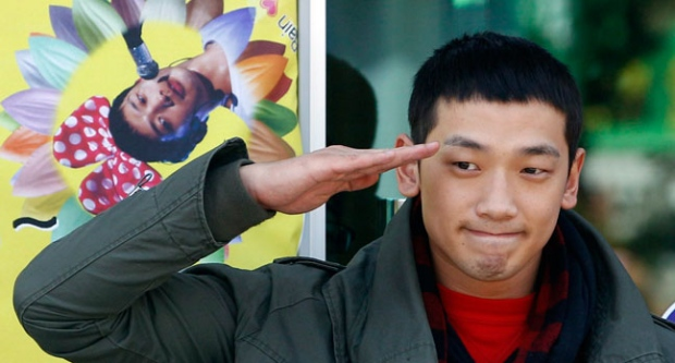 Rain, Actress, Meeting, Trouble, Military