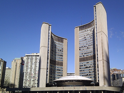 Toronto's City Hall appears in this file photo. (CP24/Maurice Cacho)