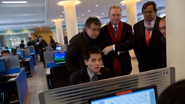 Google chairman Eric Schmidt North Korea visit