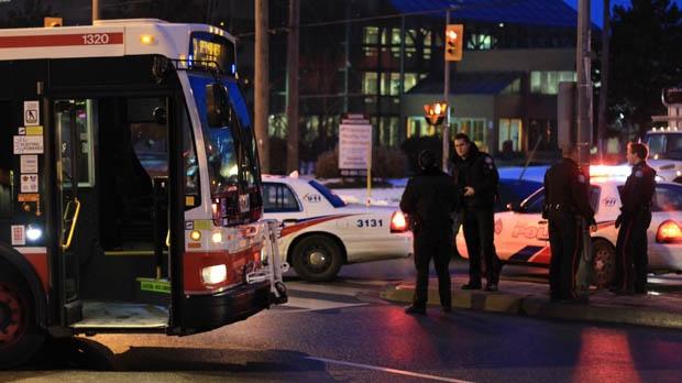 TTC bus struck pedestrian Steeles Signet