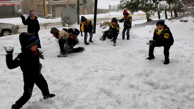Lebanon winter storm Middle East