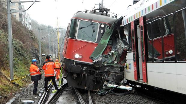 Neuhausen Switzerland train crash