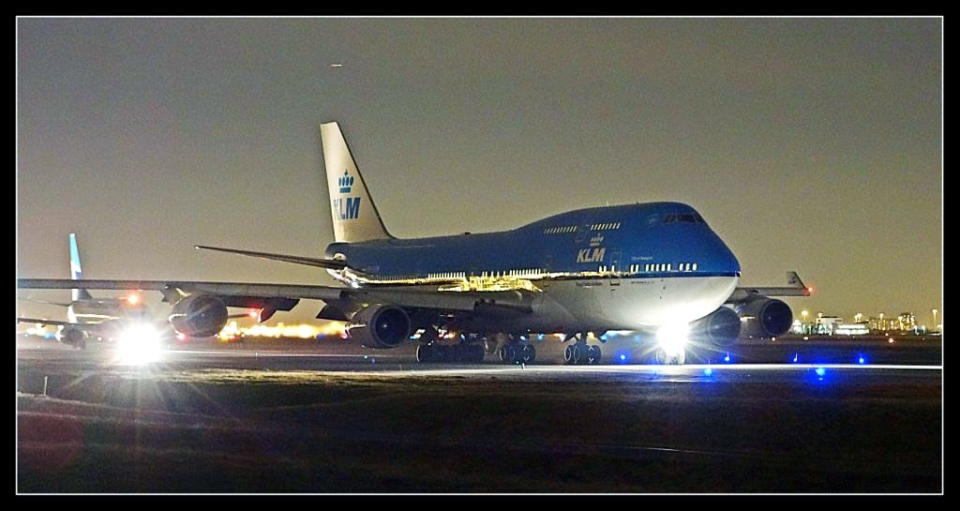 A KLM airplane is shown on the runway at Pearson International Airport on Thursday, Jan. 10, 2013. (Tom Podolec / CTV Toronto)