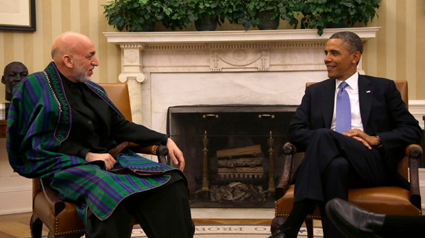 Barack Obama Hamid Karzai Afghanistan mission