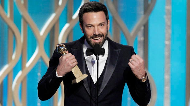 "This image released by NBC shows Ben Affleck with his award for best director for ""Argo"" during the 70th annual Golden Globe Awards at the Beverly Hilton Hotel on Sunday, Jan. 13, 2013, in Beverly Hills, Calif. (AP Photo/NBC, Paul Drinkwater)"