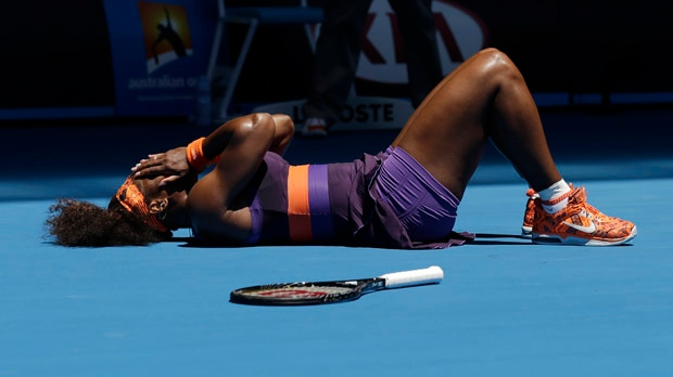 Serena Williams ankle injury Australian Open