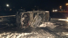 Fatal crash Highway 400 Barrie