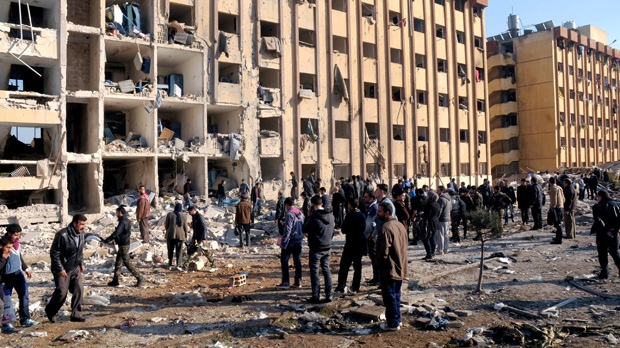 Aleppo Syria University bombing blast