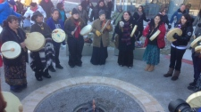 Idle No More protest Georgian College Barrie