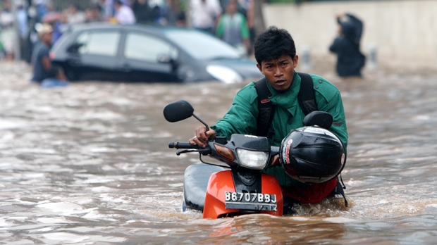 Jakarta Indonesia flood seasonal rains