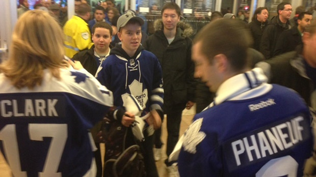 Toronto Maple Leafs open practice NHL lockout